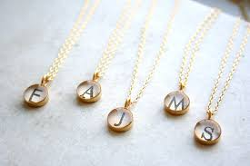 bridesmaid jewelry gifts gifts monogram necklaces