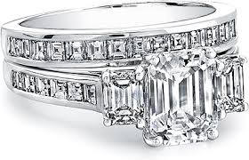 emerald cut engagement rings three emerald cut engagement ring w square emerald channel