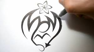letters designs for tattoos how to draw graffiti in tribal tattoo design style mom youtube