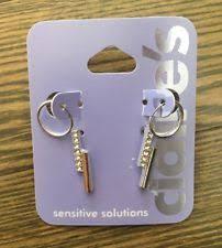 sensitive solutions earrings s s hoop fashion earrings ebay