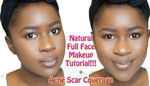 natural full face makeup tutorial for brown skin acne scar coverage mona b you