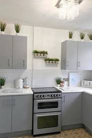 grey kitchen cabinets b q gives bland wooden kitchen a modern makeover for