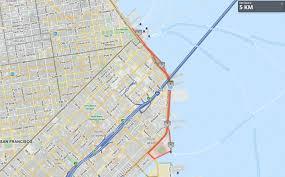san francisco map my run run in the san francisco 5k and 10k run run in the
