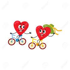 imagenes animadas sobre amor dos corazones en bicicleta juntos andar en bicicleta pareja en