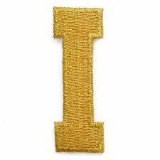 gold alphabet letter iron on patch applique 2