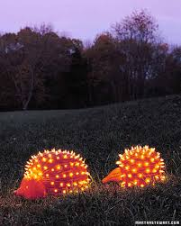 martha stewart christmas lights ideas pumpkin creatures porcupines martha stewart