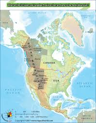 Map Me Home What Are The Us States And Canadian Provinces That Home To Rocky