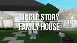 one story mansions roblox welcome to bloxburg single story family house youtube