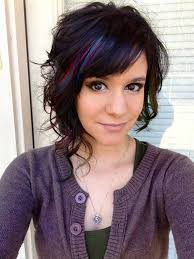 asymetric shoulder length hairstyles idea with blue color latest