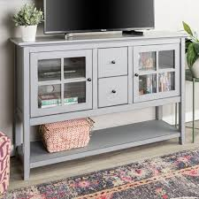 console table tv stand 52 wood console table buffet tv stand vintage gray saracina