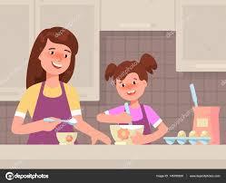 mere et fille cuisine heureuse mère et fille ensemble dans le restaurant de cuisine