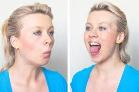 how to make a double chin look less noticable eith hair 8 best and proven face exercises to lose weight in your face