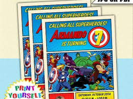 avengers party invitations ideas marvel avengers birthday