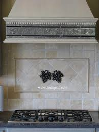 decorative kitchen backsplash kitchen grape tiles metal backsplash accents of grapes