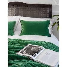 Luxury Bedspreads Plushious Velvet Bedspread In Emerald Green Velvet Throw
