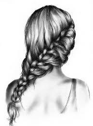 sketches of hair drawn braid art hair pencil and in color drawn braid art hair