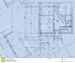 cad architectural plan drawing blueprint stock image image
