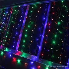cheap led string curtain light 300 led icicle wall lights 110v