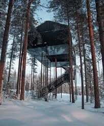 this treehouse hotel in isolated lapland forest lets you sleep