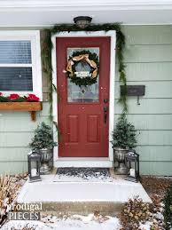 Front Door Decorations For Winter - diy winter urn made with repurposed materials prodigal pieces