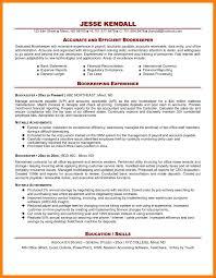 bookkeeping resume samples sample bookkeeper resume interesting