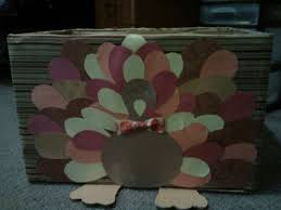 thanksgiving turkey box for the schools food drive pleased with