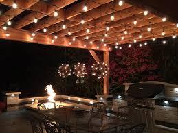 Outdoor V Lighting - santa barbara outdoor string lighting patio mediterranean with