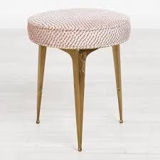 Kate Spade Furniture Kate Spade New York Syrie Stool Light Pink U0026 Brass