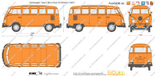 volkswagen bus drawing the blueprints com vector drawing volkswagen type 2 micro bus