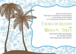wedding invitations island printable palm tree wedding invitations