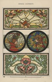 art nouveau homes federation home design for stained glass in art nouveau style lyongrun plate a 3 from