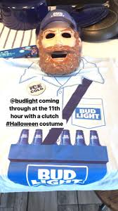 bud light vendor costume ned swain neddiebumpo twitter