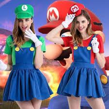 Halloween Costumes Sales Sale Cute Mario Halloween Costume Anime Game Role Play Dress