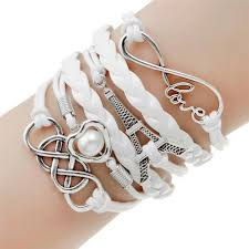 leather bracelet styles images Double infinite multilayer charm leather bracelets marlene 39 s jpg