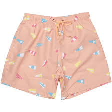 Wooden Nautical Flags Boardies Nautical Flag Pink Swim Shorts At Stuarts London