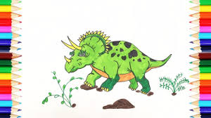 coloring pages dinosaur how to draw triceratops dinosaur art