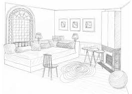 dessin chambre dessin chambre d appoint rdc interior perspective drawings