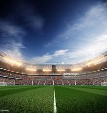 Arena Lights Soccer Stadium Blu Sky And Lights Stock Photo Getty Images