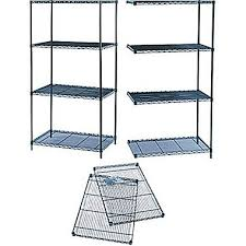 Wire Shelving Desk Safco Industrial Wire Shelving 24