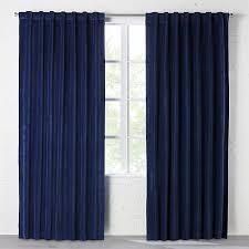 Navy Curtain Velvet Navy Curtain Panel Cb2