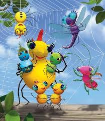 cartoon girls spiders sunny patch friends