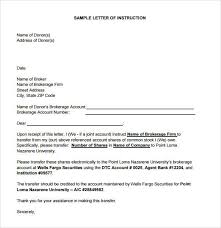 transfer letter great letter of instruction template letter of