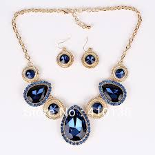 navy jewelry pn12539 fashion jewelry sets navy blue new design