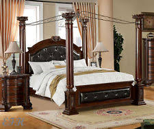 Wood Canopy Bed Cherry Canopy Beds Frames Ebay