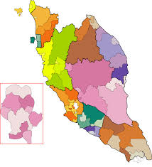 map malaysia vector postcode map clipart