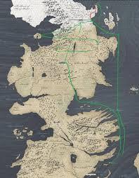 us map of thrones of thrones season 7 white crawlers map shows how far jon