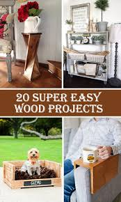 Easy Woodworking For Beginners by 20 Super Easy Wood Projects For Beginners Cool Diys