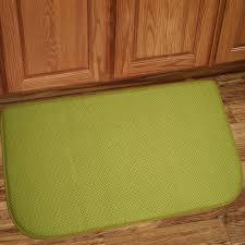 Kitchen Decor Collections Memory Foam Anti Fatigue Kitchen Floor Mat Honeycomb Green