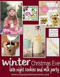 christmas eve cookies and milk party ideas unique pastiche events