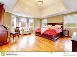 Green Master Bedroom by Large Master Bedroom Interior With Green Alls And Hardwood Floor